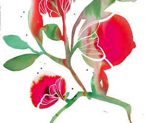 pink, art, and flower image