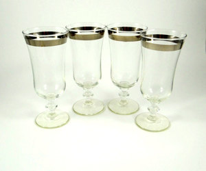 1950s, cocktail glasses, and silver band image