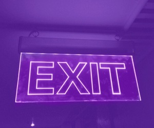 purple, exit, and tumblr image