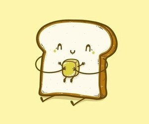 butter, bread, and food image