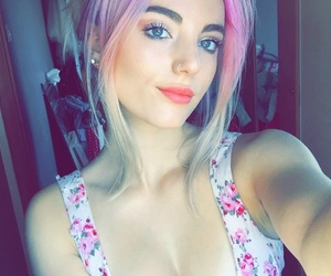 hair, pink, and smile image