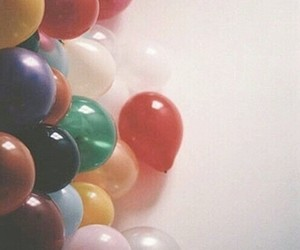 balloons, vintage, and grunge image