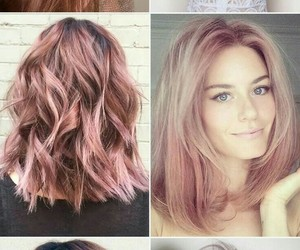 girls, hair color, and rose gold image