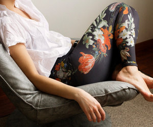 etsy, tights, and floral pants image