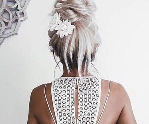 hair, fashion, and flowers image