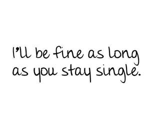 single, love, and quotes image
