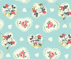background, iphone, and mickey mouse image