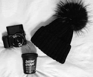 black, camera, and cream image