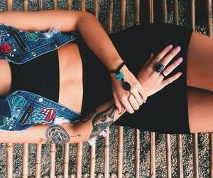 Tattoos, woman, and fashion image