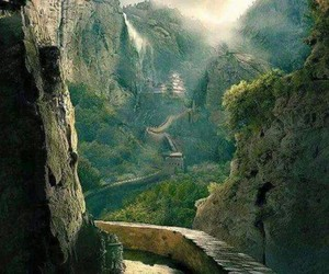 beautiful, great wall of china, and mountains image