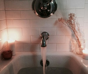 bath, candle, and indie image
