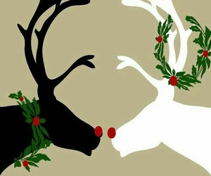 christmas, wallpaper, and reindeer image