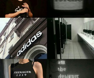black, kpop, and moodboard image