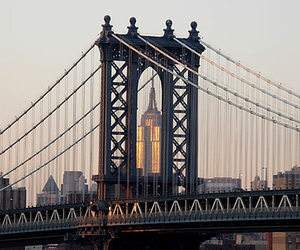 bridge, new york, and city image