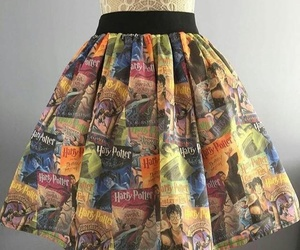 books, dress, and harry potter image