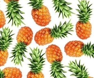 background, fruit, and pineapple image