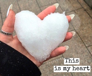 broken heart, cold, and girl image
