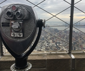city, empire state, and new york image