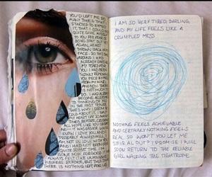 art, grunge, and journal image