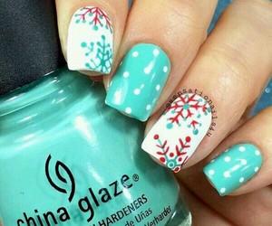 nails, christmas, and nails art image