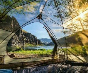 camping, nature, and landscape image