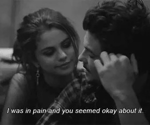 selena gomez, pain, and quotes image