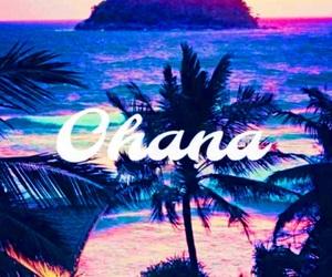 beach, ohana, and evening image