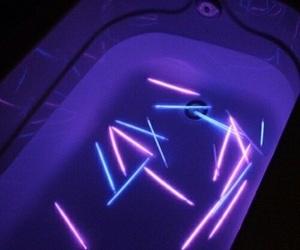 purple, neon, and grunge image