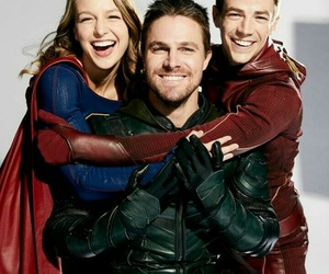 Supergirl, green arrow, and the flash image