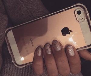 glitter, iphone, and nails image