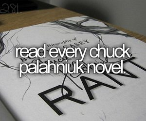 book, before i die, and chuck palahniuk image
