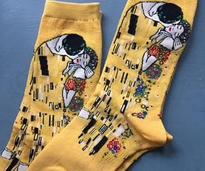 art, klimt, and socks image