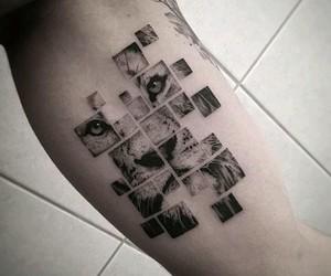 tattoo, lion, and art image