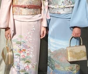 pink, aesthetic, and kimono image