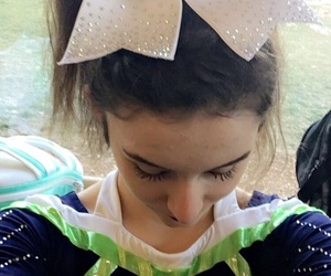 bows, cheerleader, and cheer image