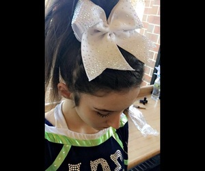 cheer, cheerleader, and hair image