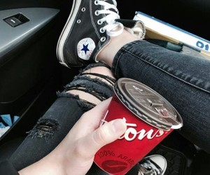 converse, girl, and hey image