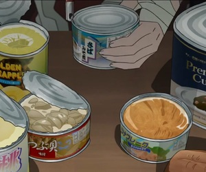 anime, can, and food image
