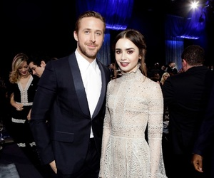 amazing, ryan gosling, and lily collins image