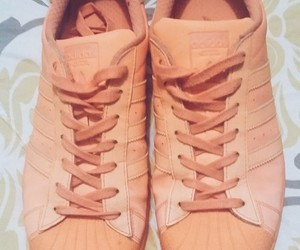 adidas, orange, and superstar image