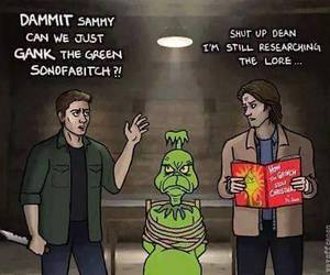 supernatural, dean winchester, and grinch image