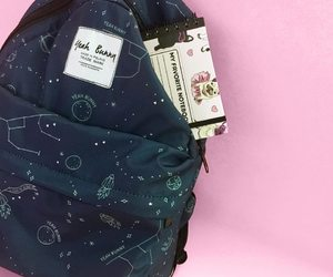 backpack, navy, and space image