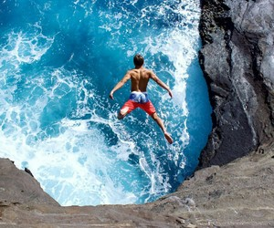 cliffs, dangerous, and hawaii image