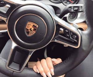 car, nails, and porsche image