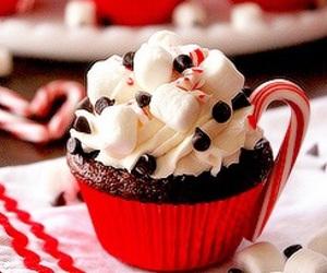 cupcake, chocolate, and christmas image