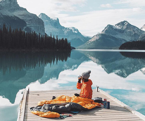 cold, sea, and travel image