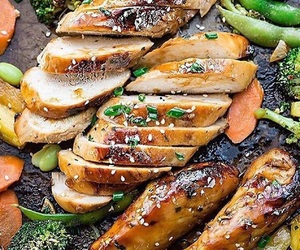 Chicken, cooking, and fitness image