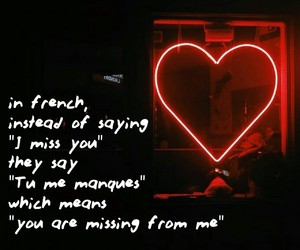 french, i miss you, and quote image