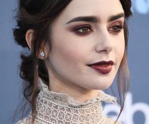 lily collins, makeup, and actress image