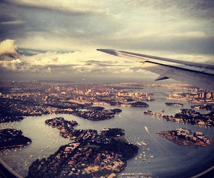 airplane, australia, and city image